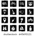 active recreation web icons for ... | Shutterstock .eps vector #645693121