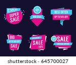 sale origami templates... | Shutterstock .eps vector #645700027