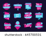 polygon templates with sale... | Shutterstock .eps vector #645700531