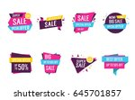 colorful origami sale lettering ... | Shutterstock .eps vector #645701857