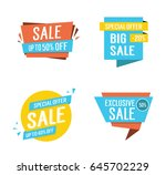 four sale letterings set | Shutterstock .eps vector #645702229