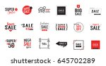 eighteen sale letterings set | Shutterstock .eps vector #645702289