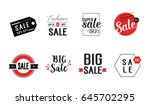 eight red and black sale... | Shutterstock .eps vector #645702295