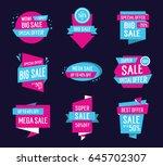 creative origami sale... | Shutterstock .eps vector #645702307