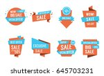 exclusive sale lettering | Shutterstock .eps vector #645703231