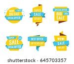 banners with sale lettering | Shutterstock .eps vector #645703357