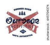 outdoor activities retro poster....   Shutterstock .eps vector #645704374