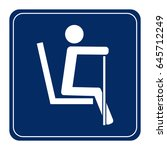 priority seating for customers... | Shutterstock .eps vector #645712249