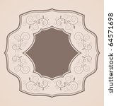 floral vintage card | Shutterstock .eps vector #64571698