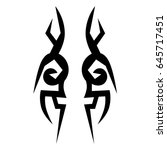 tribal tattoo art designs.... | Shutterstock .eps vector #645717451