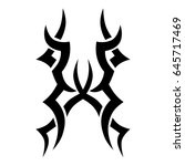 tribal tattoo art designs.... | Shutterstock .eps vector #645717469