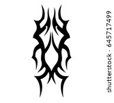 tattoo tribal vector design.... | Shutterstock .eps vector #645717499