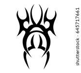 tattoo tribal vector design.... | Shutterstock .eps vector #645717661