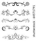 designed borders   floral... | Shutterstock .eps vector #64571791