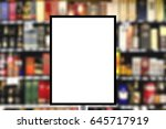 blank standing sign with copy...   Shutterstock . vector #645717919