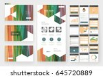 website template  one page... | Shutterstock .eps vector #645720889