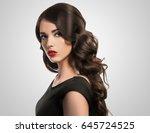 beautiful woman  glamour... | Shutterstock . vector #645724525