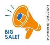 big sale megaphone icon... | Shutterstock .eps vector #645724645