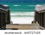 Boardwalk To The Sand And Ocea...