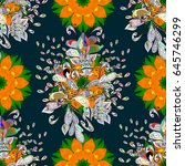 seamless pattern with many... | Shutterstock .eps vector #645746299