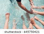 the warm up by kicking your... | Shutterstock . vector #645750421
