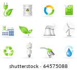 air pollution and green energy... | Shutterstock .eps vector #64575088