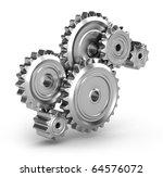perpetuum mobile   gears   Shutterstock . vector #64576072