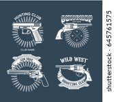 collection of gun club emblems | Shutterstock .eps vector #645761575