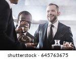 multiethnic group of... | Shutterstock . vector #645763675