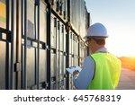 foreman control loading...   Shutterstock . vector #645768319
