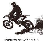 motocross rider | Shutterstock .eps vector #645771511