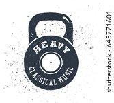 hand drawn 90s themed badge... | Shutterstock .eps vector #645771601