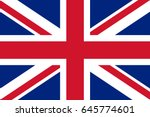 vector united kingdom flag ... | Shutterstock .eps vector #645774601