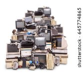 electronic waste ready for... | Shutterstock . vector #645774865