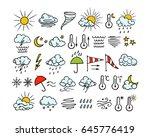 vector graphic set of hand... | Shutterstock .eps vector #645776419
