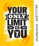 your only limit is you.... | Shutterstock .eps vector #645777799