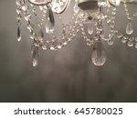 vintage chandelier  close on... | Shutterstock . vector #645780025
