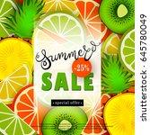 summer sales. advertising text... | Shutterstock .eps vector #645780049