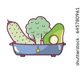 fresh and delicious vegetables... | Shutterstock .eps vector #645780961