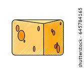 cheese dairy food | Shutterstock .eps vector #645784165