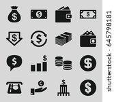 dollar icons set. set of 16... | Shutterstock .eps vector #645798181