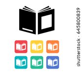 book icon. vector illustration.  | Shutterstock .eps vector #645800839
