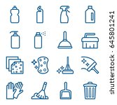 set of cleaning agents and... | Shutterstock .eps vector #645801241