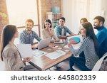 team building concept. meeting... | Shutterstock . vector #645802339