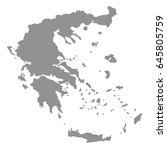 vector illustration of greece... | Shutterstock .eps vector #645805759