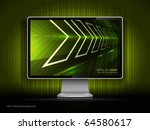 vector digital lcd monitor | Shutterstock .eps vector #64580617