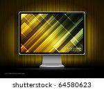 vector digital lcd monitor | Shutterstock .eps vector #64580623