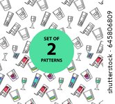 set of seamless pattern... | Shutterstock .eps vector #645806809