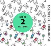 set of textures. alcoholic... | Shutterstock .eps vector #645807901