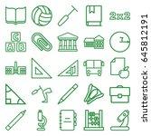 school icons set. set of 25... | Shutterstock .eps vector #645812191